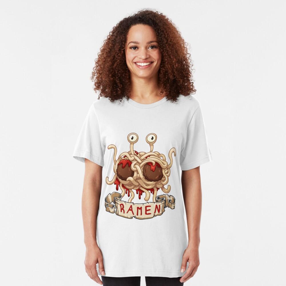 Ramen. Flying spaghetti monster church Slim Fit T-Shirt