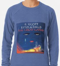 The Great Gatsby - Square Book Cover Lightweight Sweatshirt