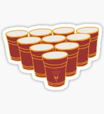 ASU Beer Pong Sticker