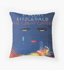 The Great Gatsby - Square Book Cover Throw Pillow