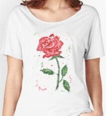 Watercolor Rose Women's Relaxed Fit T-Shirt