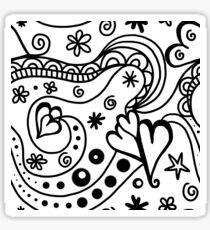 Hearts & Swirls (B&W) Sticker