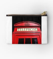 Red London Telephone Box Studio Pouch