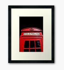Red London Telephone Box Framed Print