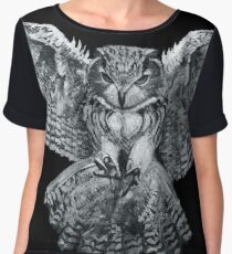The Owl l Chiffon Top