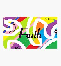 Faith - Original painting personalized with your name Photographic Print