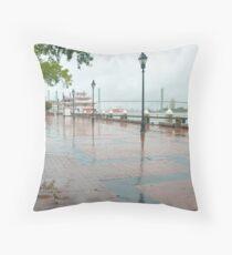 River Street, Savannah Throw Pillow