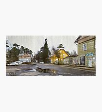 outskirts of a small town Photographic Print