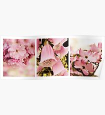 Spring Assemblage Triptych Poster