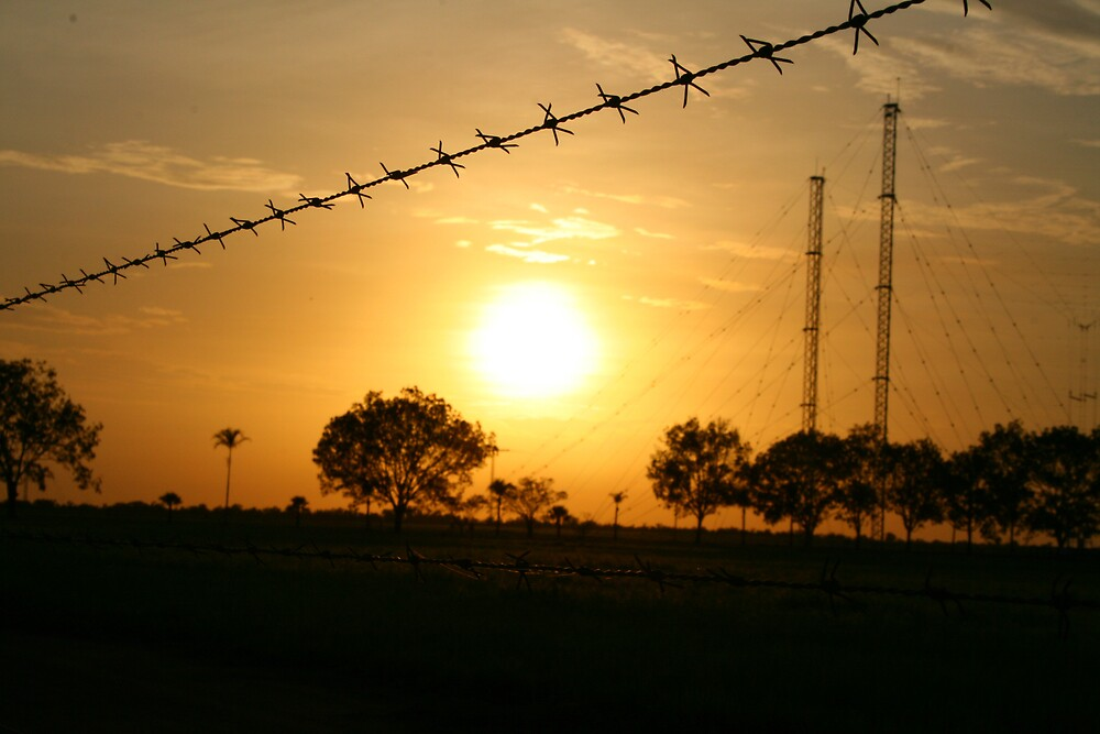 Barbed Wire Sunset by Kym Smitt