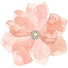 Pretty pastel pink flower watercolour by Sandra O'Connor