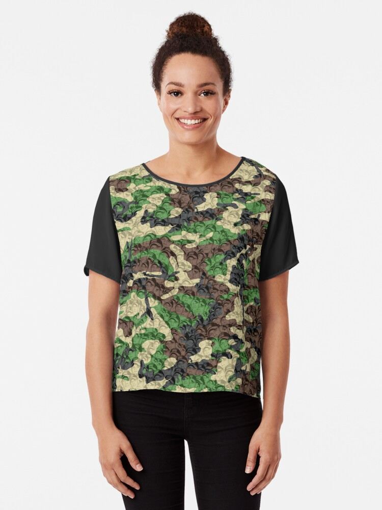 John Cena You Cant See Him Camouflage Womens Chiffon Top By