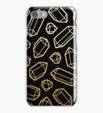 Gold and Black Gemstone Pattern iPhone Case/Skin