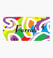 Farrah - Original painting personalized with your name Photographic Print