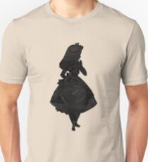 Alice in Wonderland, Black Picture Silhouette T-Shirt