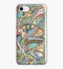 Flying Fishes, Guitars & Piano iPhone Case/Skin