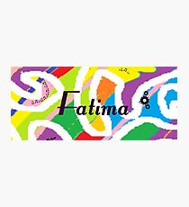Fatima - Original painting personalized with your name Photographic Print
