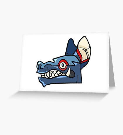 Tribal Wolf Mask Greeting Card