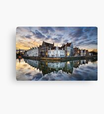 Sunset in Bruges, Belgium Canvas Print