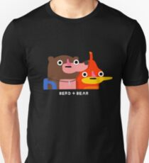 Berd and bear (white text) Unisex T-Shirt