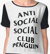 anti anime anime club penguin Women's Chiffon Top