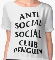 anti anime anime club penguin Chiffon Top