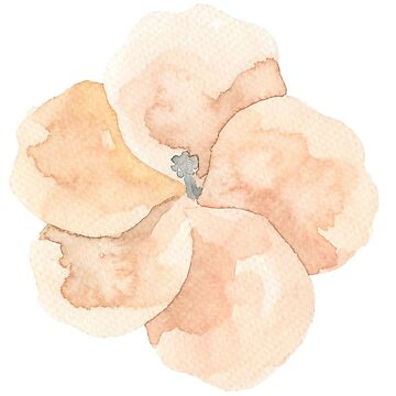 Pretty little pastel yellow, orange, peach flower watercolour by Mindreader