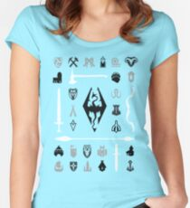 Skyrim: Symbol Collection Women's Fitted Scoop T-Shirt