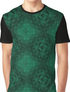 Abstract Shapes & Polygons (Green) Graphic T-Shirt
