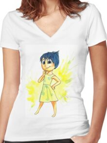 Joy - Inside Out Women's Fitted V-Neck T-Shirt