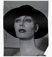 Mannequin With Text Just like a woman Poster
