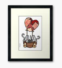 Kitty love balloon Framed Print
