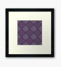 Abstract Shapes & Polygons (Purple) Framed Print