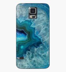 Türkisfarbener Druzy-Achat-Quarz Hülle & Skin für Samsung Galaxy