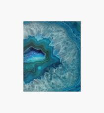 Teal Druzy Agate Quartz Art Board