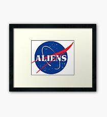 Nasa Aliens Parody Logo Framed Print