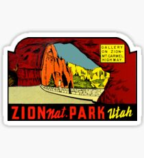 Gallery on Zion National Park Vintage Travel Decal Sticker
