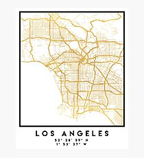 LOS ANGELES KALIFORNIEN CITY STREET MAP ART Fotodruck