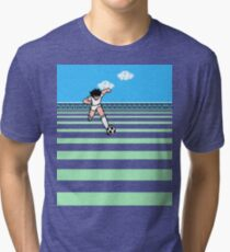 CAPTAIN TSUBASA MANGA - NES GAME  Tri-blend T-Shirt