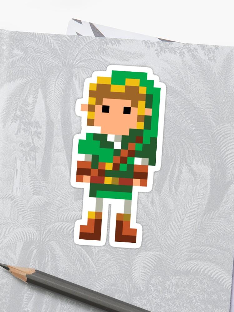 The Legend Of Zelda 16 Bit Link Sticker By Crampsy Design