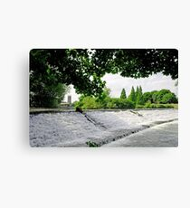 River Derwent Weir, Derby Canvas Print