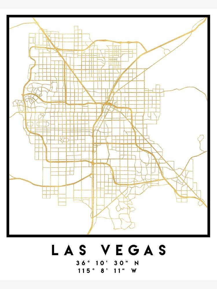 LAS VEGAS NEVADA CITY STREET MAP ART | Poster