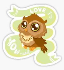 Love is OWL you need Sticker