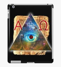 Eye of God Alpha Omega magic Cross geek iPad Case/Skin