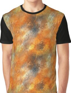Abstract Paint Pattern (Rustic Copper) Graphic T-Shirt