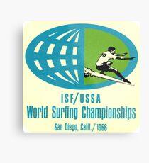 1966 Weltmeisterschaften im Surfen Metalldruck