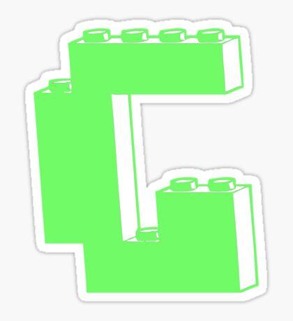 THE LETTER G Sticker