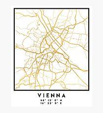 VIENNA AUSTRIA CITY STREET MAP ART Photographic Print