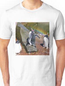 Gentoo Penguin eating Rainbow Unisex T-Shirt