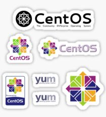 centos operating system linux sticker set Sticker